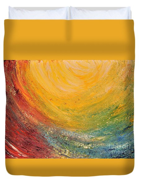 Duvet Cover featuring the painting Infinity by Teresa Wegrzyn