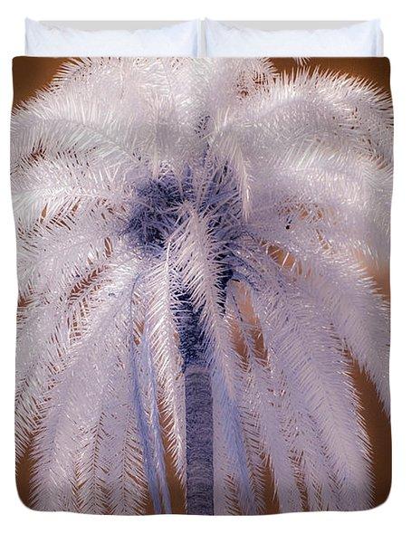 Infrared Palm Tree Duvet Cover