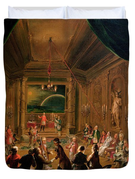 Initiation Ceremony In A Viennese Masonic Lodge During The Reign Of Joseph II, With Mozart Seated Duvet Cover