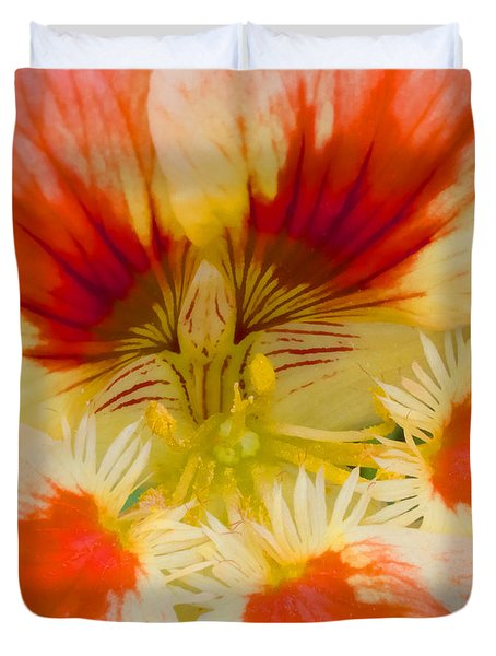 Duvet Cover featuring the photograph Ink Blot by Heidi Smith