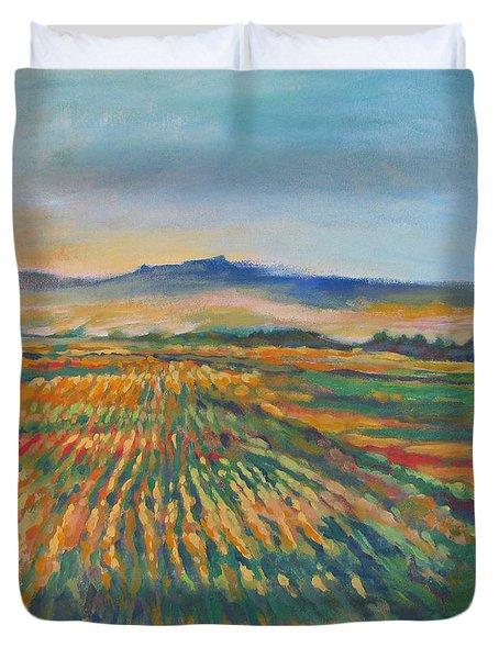 Inland Fields Duvet Cover by Vanessa Hadady BFA MA
