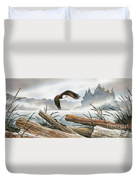 Inland Sea Eagle Duvet Cover by James Williamson
