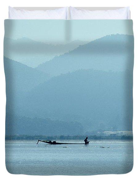 Inle Lake Duvet Cover