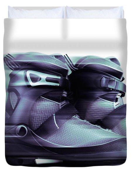Inline Skates Rollerblades Artistic Dynamic Still Ife Duvet Cover by Oleksiy Maksymenko