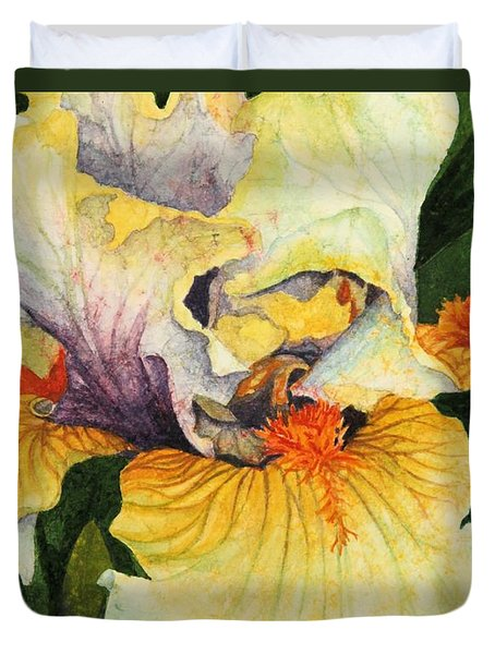 Duvet Cover featuring the painting Inner Beauty by Barbara Jewell