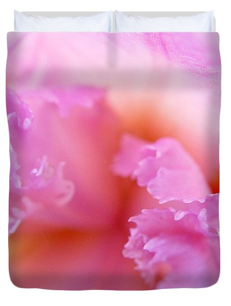 Duvet Cover featuring the photograph Inner Iris-2of4 by Jana Russon