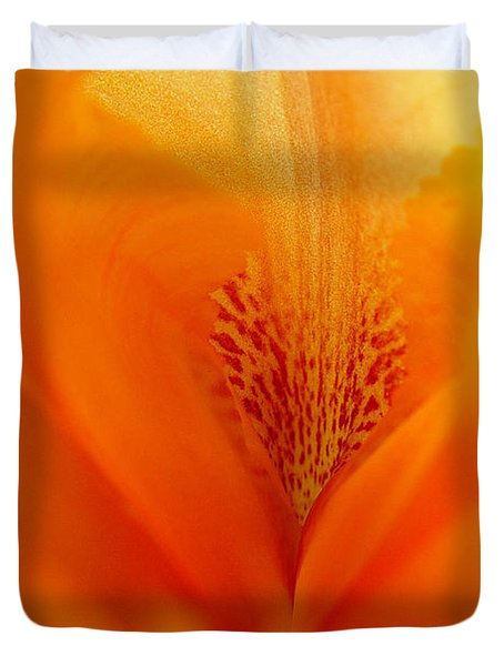 Duvet Cover featuring the photograph Inner Iris 3 Of 4 by Jana Russon