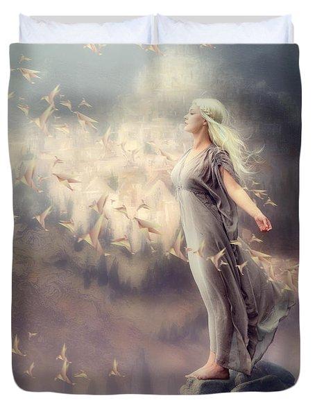 Inner Peace Duvet Cover by Cindy Grundsten
