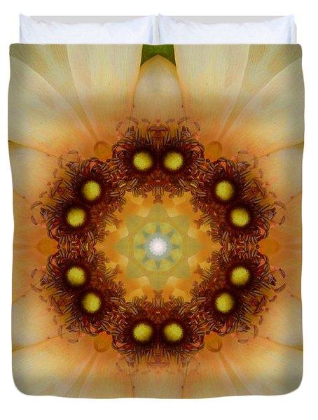 Inner Petal Flower Mandala Duvet Cover