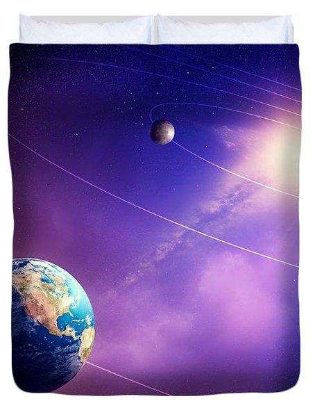 Inner Solar System Planets Duvet Cover