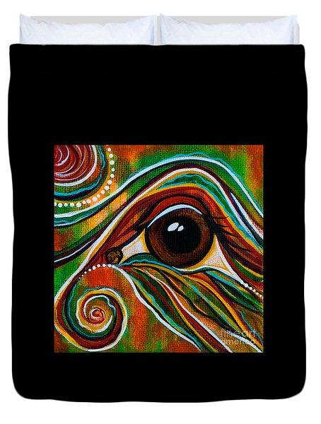 Inner Strength Spirit Eye Duvet Cover by Deborha Kerr