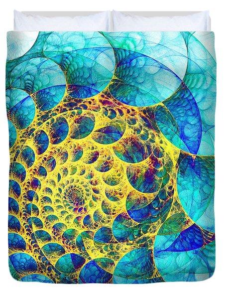 Inner Structure Duvet Cover by Anastasiya Malakhova