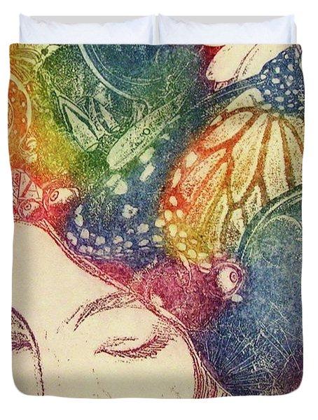 Inner Thoughts Duvet Cover by Juliann Sweet