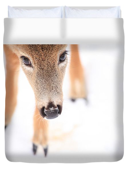 Innocent Eyes Duvet Cover by Karol Livote