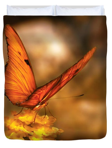 Insect - Butterfly - Just A Bit Of Orange  Duvet Cover