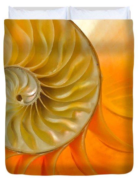 Inside A Nautilus Shell Duvet Cover