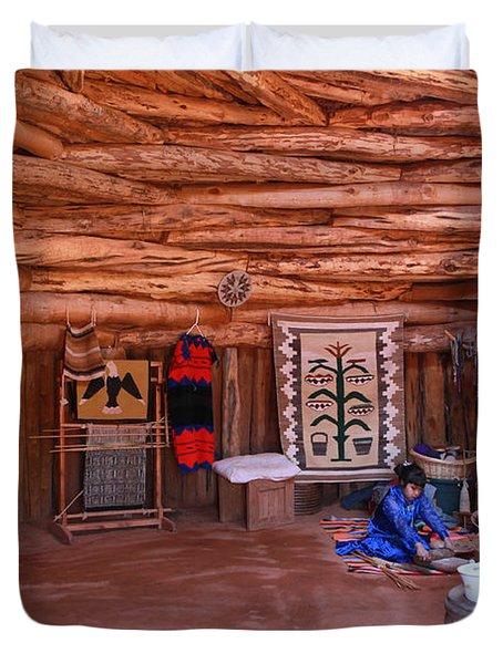 Inside A Navajo Home Duvet Cover
