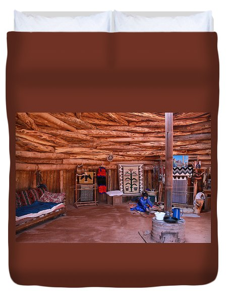 Inside A Navajo Home Duvet Cover