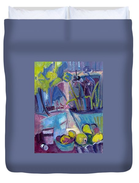 Inside And Outside Abstract Expressionism Duvet Cover