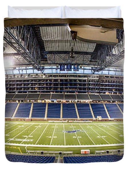Inside Ford Field Duvet Cover by John McGraw