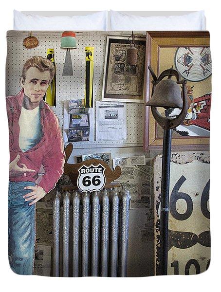 Inside Jackrabbit Trading Post Duvet Cover by Priscilla Burgers