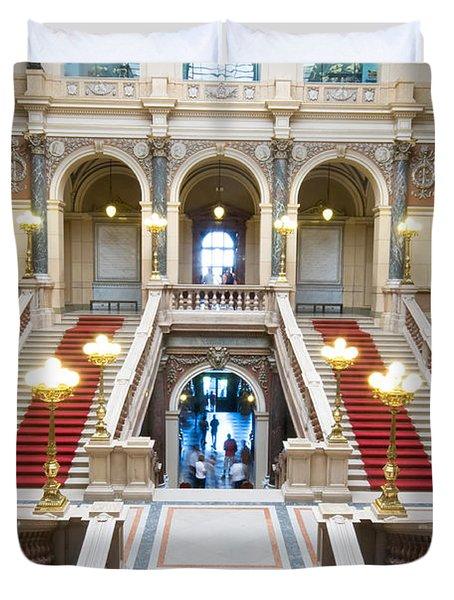Inside Of National Museum In Prague Duvet Cover by Michal Bednarek