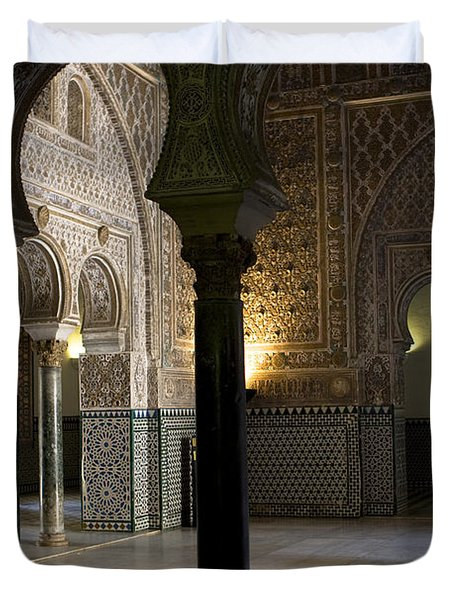Inside The Alcazar Of Seville Duvet Cover