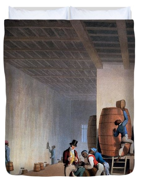 Inside The Distillery, From Ten Views Duvet Cover by William Clark