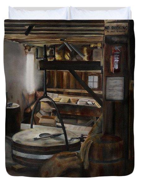 Inside The Flour Mill Duvet Cover