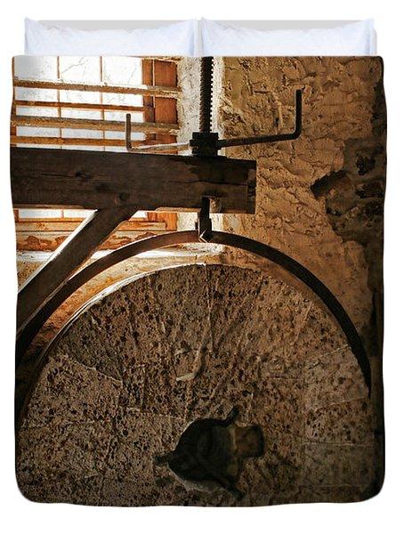 Inside The Gristmill Duvet Cover
