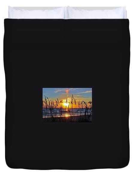 Inside The Sunset Duvet Cover by Kicking Bear  Productions