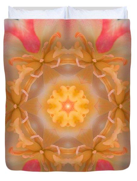 Inside Tulip Mandala Duvet Cover