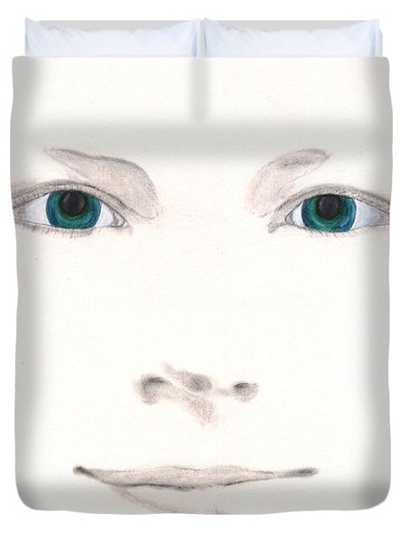 Duvet Cover featuring the drawing Inspiration by Stephanie Grant