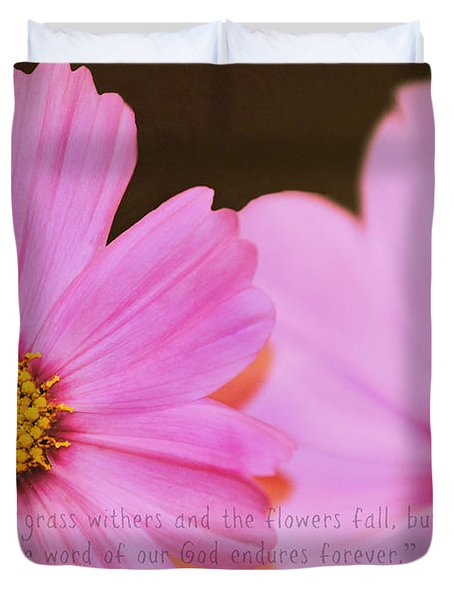 Inspirational Flower 2 Duvet Cover by Eric Liller