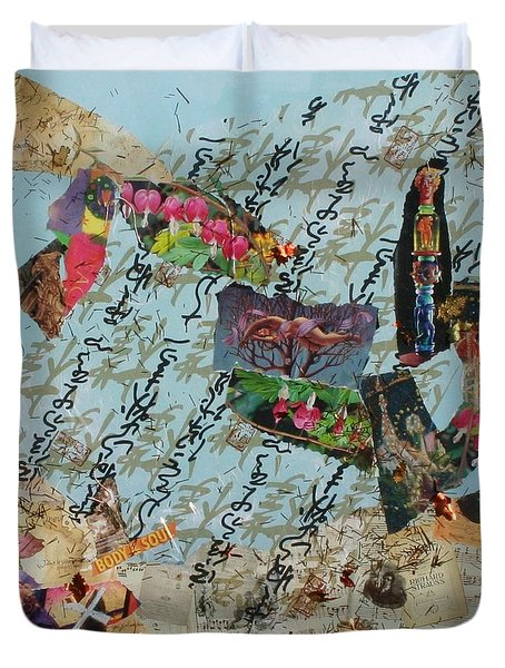 Inspirations Collage Duvet Cover