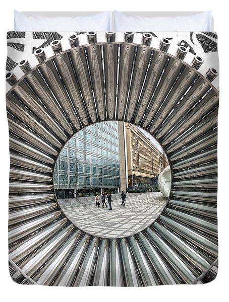 Institut Du Monde Arabe - Paris Duvet Cover by Luciano Mortula