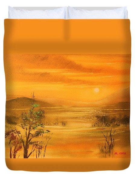 Intense Orange Duvet Cover