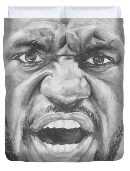 Intensity Lebron James Duvet Cover by Tamir Barkan