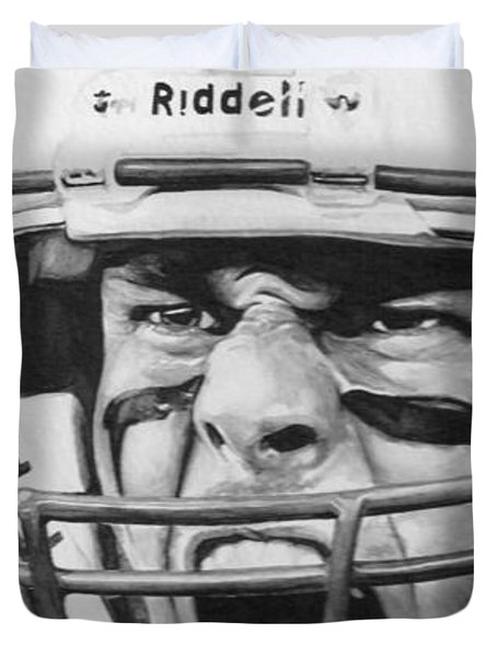Intensity Tom Brady Duvet Cover by Tamir Barkan