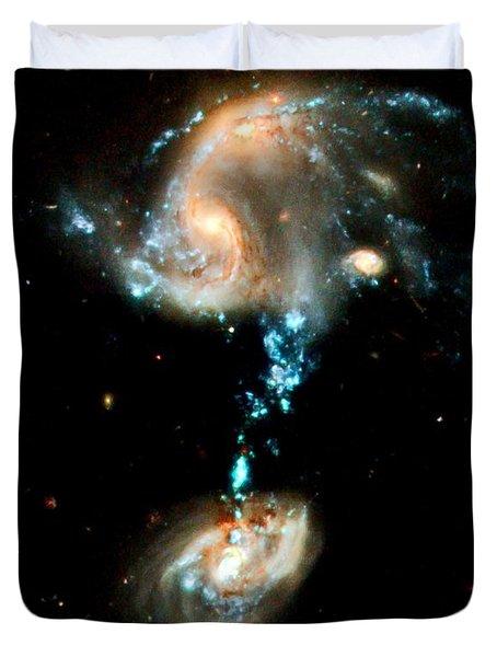 Interacting Galaxies Group Arp 194 Duvet Cover by Amanda Struz