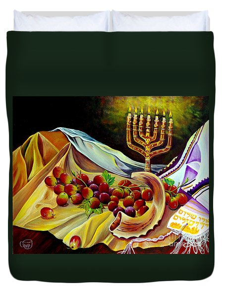 Intercession Duvet Cover by Nancy Cupp