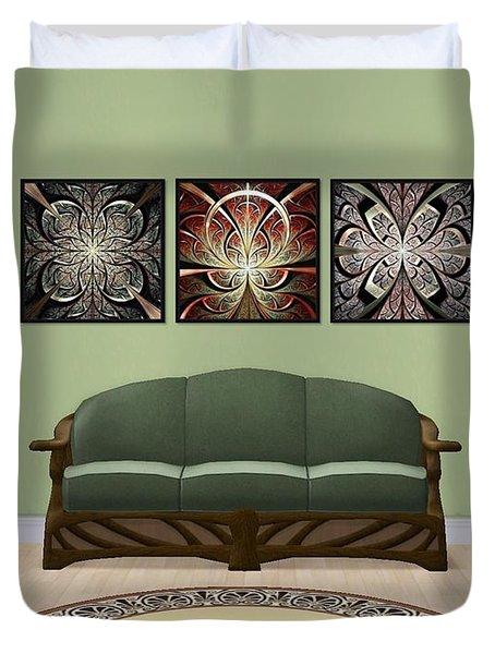 Interior Design Idea - Iron Gate - North Gates - South Gates Duvet Cover by Anastasiya Malakhova
