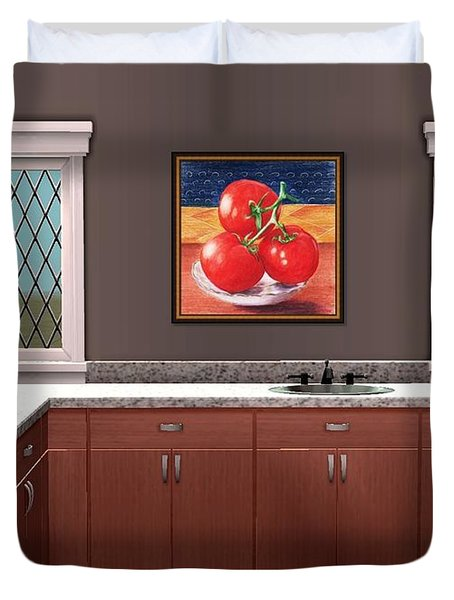 Interior Design Idea - Tomatoes Duvet Cover by Anastasiya Malakhova