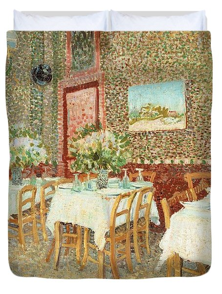 Interior Of Restaurant Duvet Cover by Vincent van Gogh