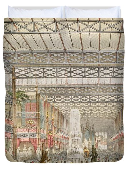Interior Of The Crystal Palace, Pub Duvet Cover by Augustus Butler