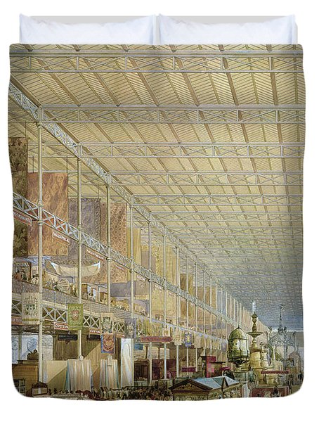 Interior Of The Great Exhibition Of All Duvet Cover by Edmund Walker