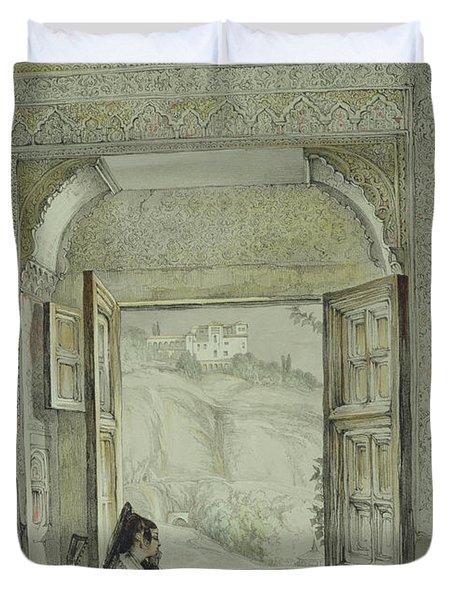 Interior Of The Palace At Madura Duvet Cover