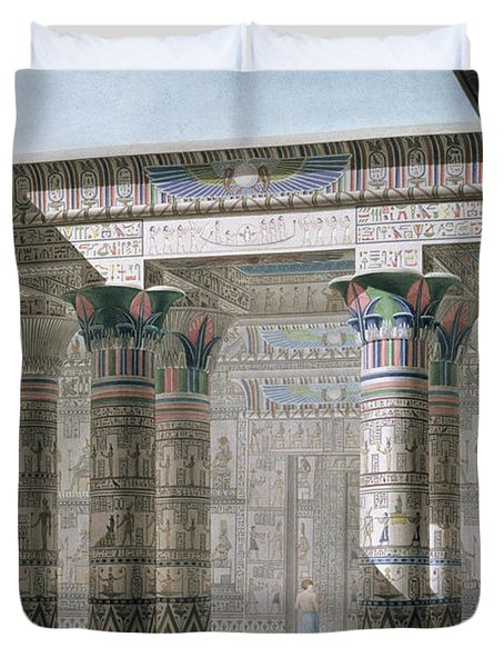 Grand Temple On The Island Of Philae Duvet Cover