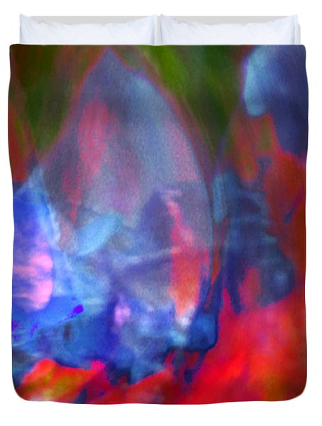 Duvet Cover featuring the digital art Interior by Richard Thomas