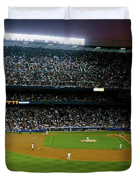 Interiors Of A Stadium, Yankee Stadium Duvet Cover